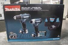 Makita CT226 12V Max CXT Lithium-Ion Cordless Combo Kit (2 Piece) New