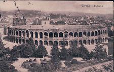 BELLISSIMA CARTOLINA DI VERONA - L'ARENA - 1912 CON BOLLO 5 CENTESIMI 13-147