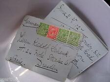 Alter Brief versiegelt  von 1927  Dresden  Siegel mit Krone  Ganzsache