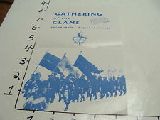 Vintage Travel Paper: 1951 GATHERING of the CLANS, EDINBURGH cover only