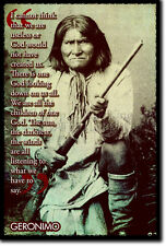 Geronimo ART PRINT PHOTO POSTER REGALO Nativo Americano Indiano Apache preventivo