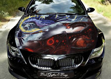 Dragon Full Color Graphics Adhesive Vinyl Sticker Fit any Car Hood Bonnet #164