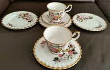 7 Royal Imperial Finest Quality English Bone China Cups, Saucers & Small Plates.