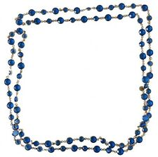 Authentique Sautoir Chanel Vintage 1981 Collier Necklace Cristal Crystal Blue