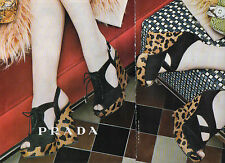 Publicité Advertising 2014  (2 PAGES)  PRADA pret à porter collection mode