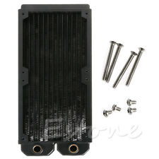 Useful 240mm Dual Radiator Copper Water Cooling Heat Exchanger 2 X 120mm