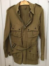 BUZZ RICKSON MFG. CO. US ARMY PARATROOPER 'JUMP' Khaki JACKET Size 38R Medium