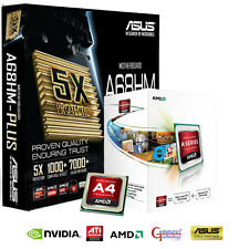 AMD A4 4000 CPU ASUS A68HM PLUS MOTHERBOARD USB 3.0 GAMING UPGRADE BUNDLE