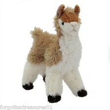 "LENA O'LLAMA Douglas Cuddle Toy 7.5"" tall stuffed alpaca brown LLAMA animal"