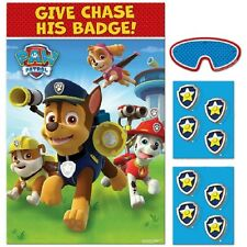 Paw Patrol Party Game Poster Birthday Activity Party Supplies Decoration Favor