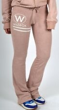 WILDFOX COUTURE ROSE WATER PINK CRUISE CLUB JOGGING SWEAT PANTS L 14 42!