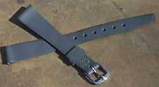 Stunning Made in England 14mm grey leather ladies vintage watch band old stock