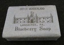 Dutch Wonderland Blueberry Soap One Vintage Bar Castile Gift Shop, Lancaster, Pa
