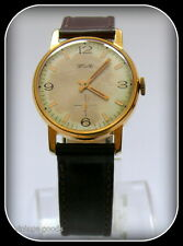 "WATCH ""ZIM"" VINTAGE FOR MEN SOVIET RUSSIA ERA GOLD PLATED"
