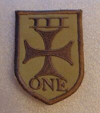 NAVY PATCH, NAVAL SPECIAL WARFARE, SEAL TEAM ONE,3RD PLATOON,THEATER MADE,DESERT