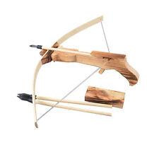 Wooden Arrow Quiver Gun Archery Crossbow+ 3 Arrow Kid Children Cross Bow Toy