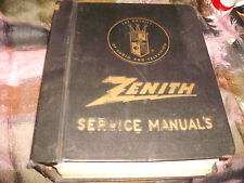 Zenith Service Manuals in a Zenith Radio and Television Binder, 1960's & 1970's
