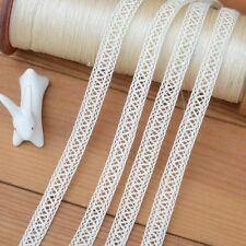 5 Yards Lace Trim Beige Cotton 0.3 inches width