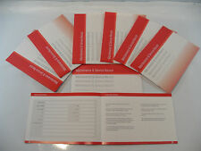 Replacement Generic Service History Book Suitable For Skoda Red
