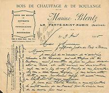 45 LA FERTE-SAINT-AUBIN COURRIER MARIUS BLENTZ BOIS DE CHAUFFAGE 1925
