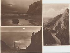 Lot of 3 x unused postcards with Watch Tower Beachy Head cachets