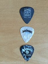 3 Jack Daniels Pearlescent & Matt Peavey Guitar Picks All Thin