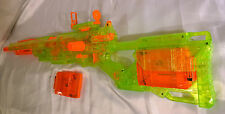 Modificato Nerf Longstrike Sonic Elite cs-6 PISTOLA BLASTER Custom N-strike Longshot