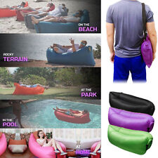 Fast Inflatable Air Sleeping Bag Camping Bed Beach Hangout Lay Lazy bag Sofa Hot