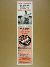 1962 Record Musky muskie Caught at St Lawrence River NY photo Ashaway Line Ad