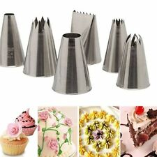 6pcs Icing Piping Nozzles Pastry Tips Fondant Cake Sugarcraft Decorating Tool