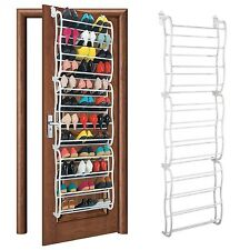 36 Pair Over Door Hanging Shoe Rack Holder Stand 12Tier Shelf Organiser Storage