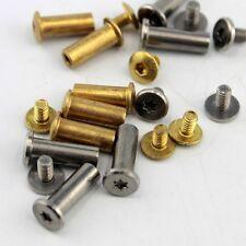 10PCS/SET Round Inner Six Square Handle Screw Buckle Straight Razor Pin DIY Tool