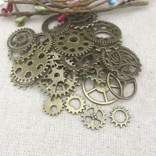 Hot 50 grams/Pack Alloy Vintage Steampunk Wind Gear Charms fit Jewelry Pendants
