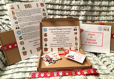 Santa Christmas Eve A5 Box Personalised A4 Letter Magic Key and Reindeer Food.
