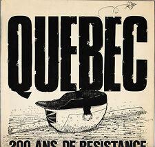 """QUEBEC """"200 ANS DE RESISTANCE"""" FOLK CONTEST LP VENDEMIAIRE 016"""