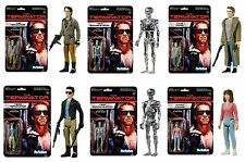 The Terminator T-800 Set 6 Figuren Classic Retro ReAction 3 3/4 Inch Figur Funko