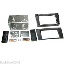 CT23MB12 MERCEDES E CLASS W211 2002 to 2009 BLACK DOUBLE DIN FASCIA ADAPTER