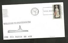 U.S.S SEA ROBIN SS 407 WELCOME TO PORTSMOUTH JUL 18,1966