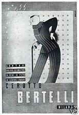 CEROTTO BERTELLI DOLORI REUMATISMI UOMO BASTONE MALANNI 1942