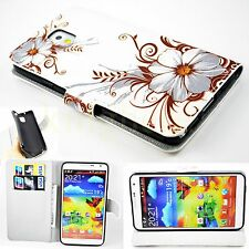Flower Leather Cover Rubber Case For Samsung Galaxy Note 3 Note III N9000 N9005