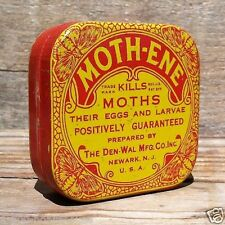 Vintage Original MOTH-ENE MOTHS INSECT Killer Insecticide Tin Unused NOS 1910s