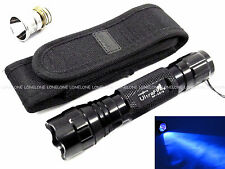 UltraFire Ultraviolet UV 3W CREE LED CR123A/16340/1​8650 Torch with Pouch WF501B