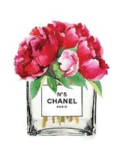 CHANEL NO 5 FLOWERS ART IMAGE A4 Poster Gloss Print Laminated