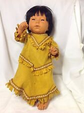 1988 FURGA Native American Indian Asian Anatomically Correct Baby Girl Doll EUC