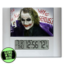 Digital Batman Joker Heath Ledger Glow In The Dark Limited Edition Clock
