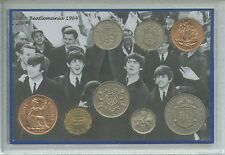 Los Beatles de Liverpool Vintage Beatlemania Fab 4 Cuatro Retro moneda Set De Regalo De 1964