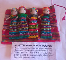 Extra Large  4 Worry Doll(8cms) Set in pouch