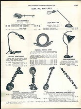 1918 ADVERTISEMENT Flexo Flexible Collapible Desk Table Lamp Piano Jack Frost