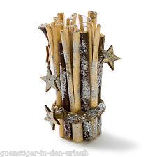Vase Wintersterne Vase mit Weidenästen und Sternen Deko Weihnachten Glas