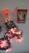 VINTAGE  STRING CHRISTMAS LIGHTS ICICLES STARBURST FLOWERS  STRANDS ANGEL TOPPER